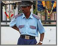 Indian security guard (Pic: courtesy Flickr/ayaschok)
