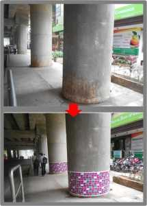 tui metro trinity circle station pillars 215x300